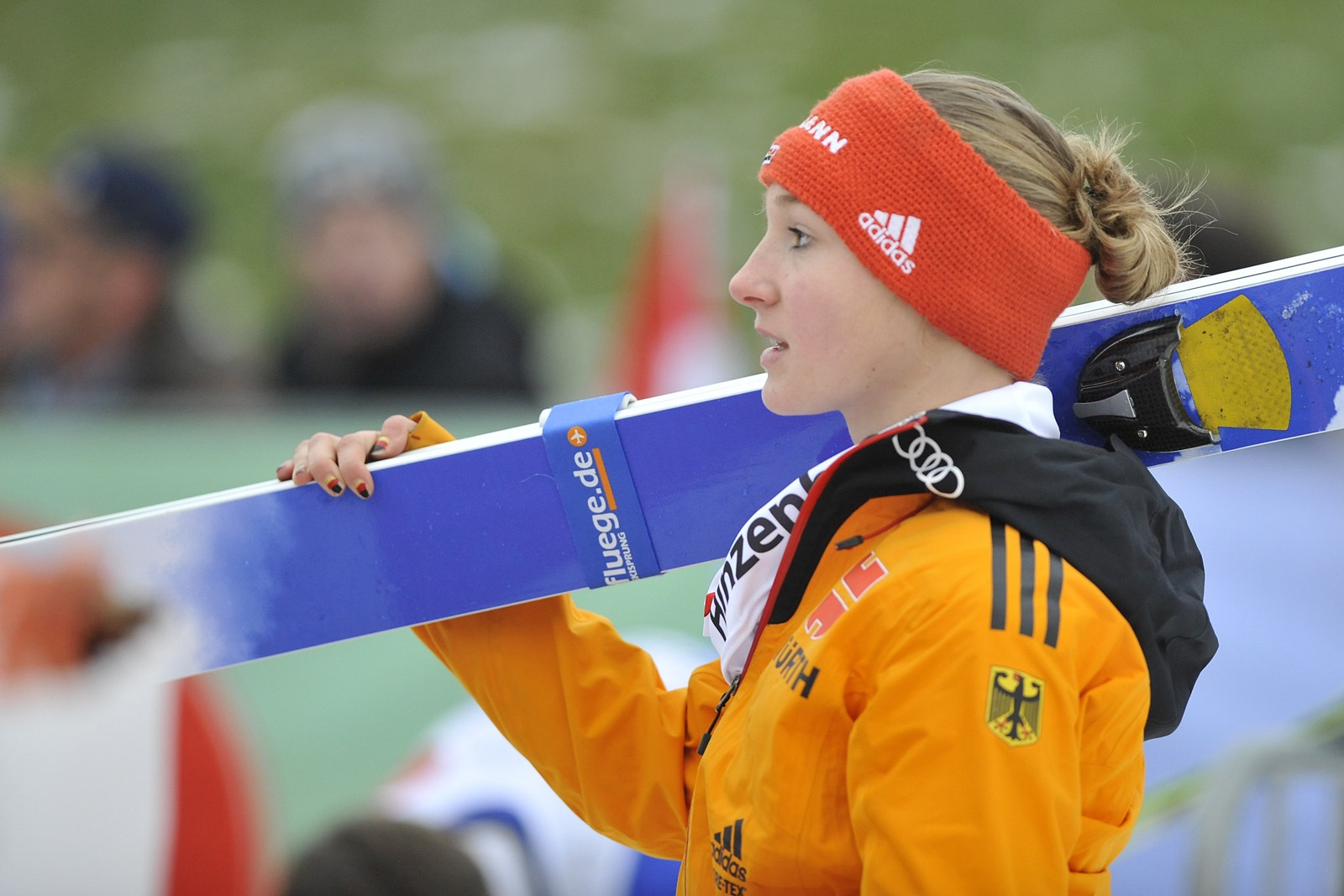 Katharina Althanus podczas PŚ Pań w Hinzenbach 2014, autor: Ailura, CC-BY-SA 3.0