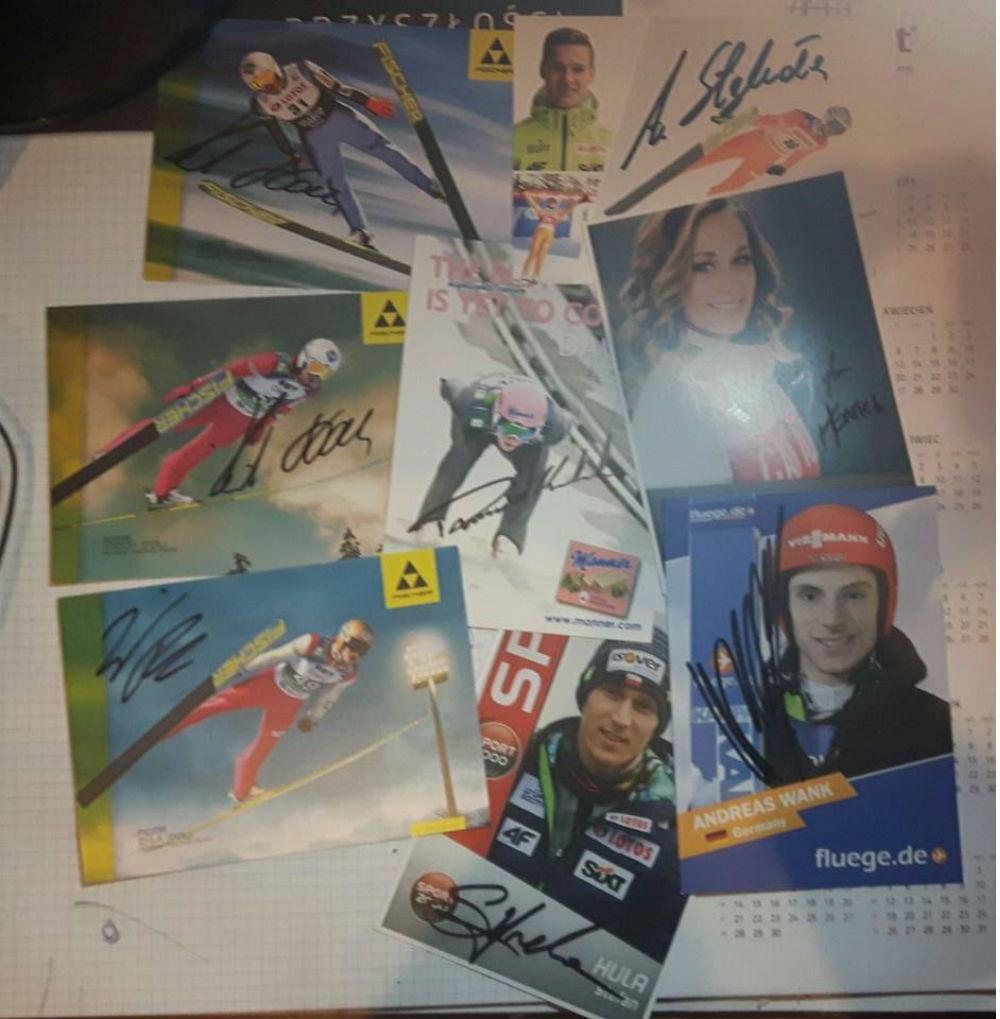 autografy skoczkow narciarskich