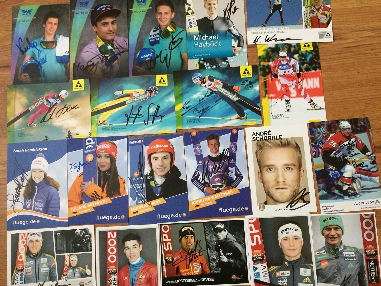 Autografy sportowców - wymiana autografów