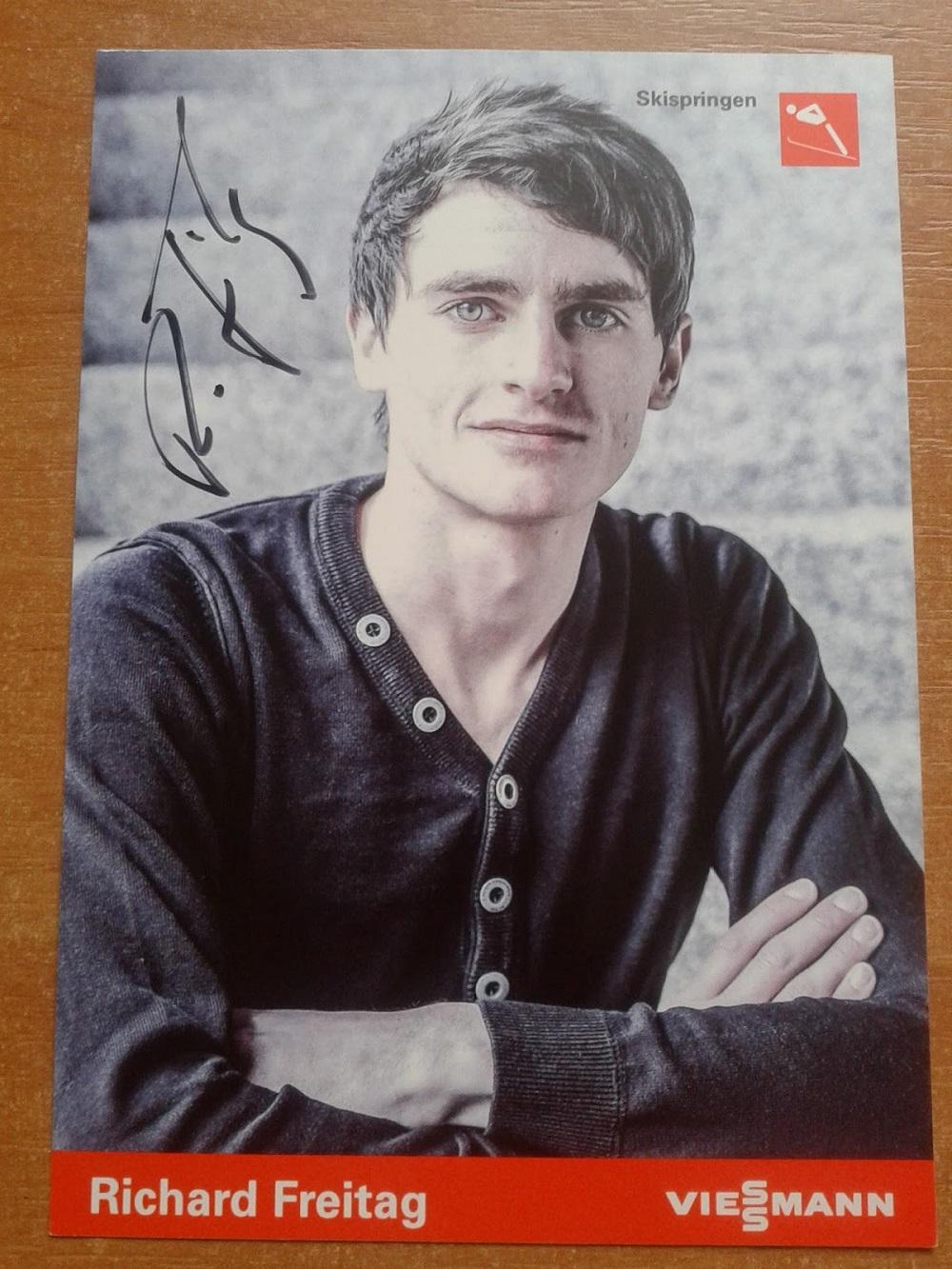 wymiana autografów - Richard Freitag