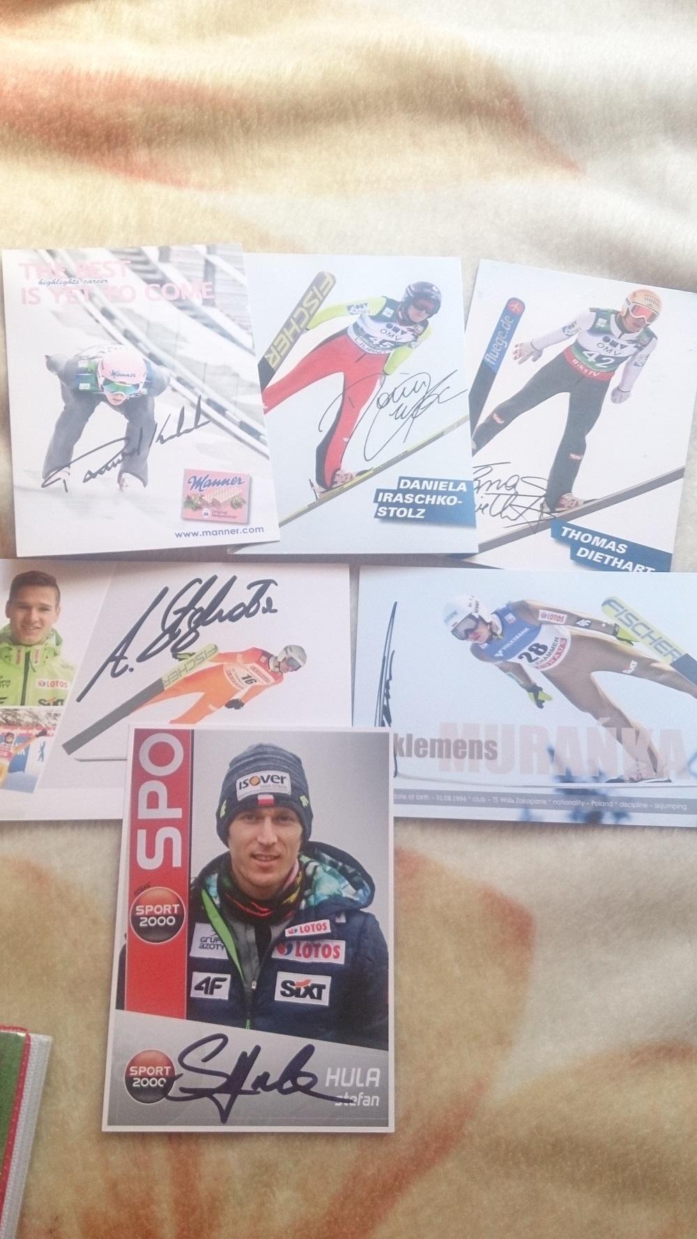 autografy skoczków - wymiana